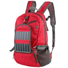 c6f02645e1 Outdoor Sport Solar Backpack Foldable Light Weight Solar Panel Charger Bag  Solar Powered Backpack
