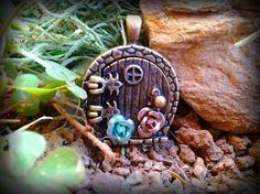 HobbitHole Fairy Door Pendant by ArtbyStarlaMoore on Etsy, $30.00