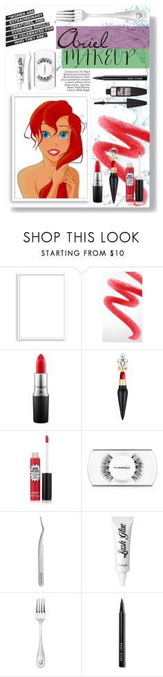 """Ariel - Makeup"" by inka-inovia ❤ liked on Polyvore featuring beauty, Paolo, Bomedo, Burberry, MAC Cosmetics, Christian Louboutin, TheBalm, shu uemura, Benefit and Versace"