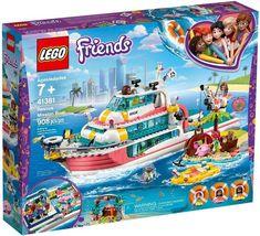 LEGO Friends Rescue Mission Boat 41381 Toy Boat Building Kit with Mini Dolls and Toy Sea Creatures Lego Duplo, Lego Ninjago, Shop Lego, Buy Lego, Lego Disney, Bateau Lego, Legos, Excited Animals, Boutique Lego