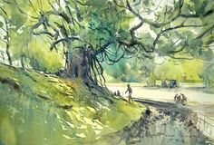 Artimañas: DIREK KINGNOK - Acuarelista de Thai (Tailandia) -Watercolors