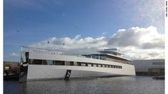 """Late Apple co-founder Steve Jobs' yacht was unveiled in a Dutch shipyard on Sunday and christened 'Venus'. The yacht appears to be as it was described in the Steve Jobs biography by Walter Isaacson. In the book, Isaacson wrote about Jobs showing him models and architectural drawings of the yacht, which Isaacson described as """"sleek and minimalist."""""""