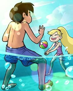 Beach Day! Star and Marco sure are enjoying themselves... (Starco! Starco!)