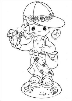 Precious Moments Summer coloring page