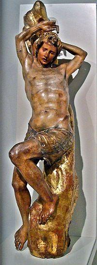 Ретабло испанского мастера Алонсо Берругете.  Алонсо Берругете. Св. Себастьян. 1526—1532