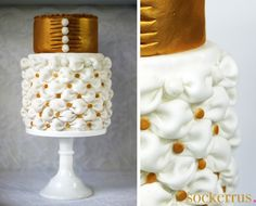 gold billowing cake - sockerrus.se