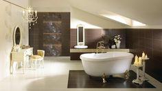 Деликатный интерьер ванной комнаты.