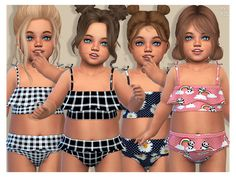 Toddler Cc Sims 4, Sims 4 Toddler Clothes, Sims 4 Cc Kids Clothing, Sims 4 Mods Clothes, Toddler Girls, Toddler Outfits, The Sims 4 Pc, Sims Four, Sims 4 Tsr