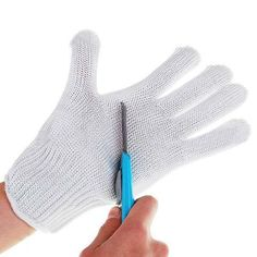 1 Pair Knife Cut Resistant Protective Gloves White