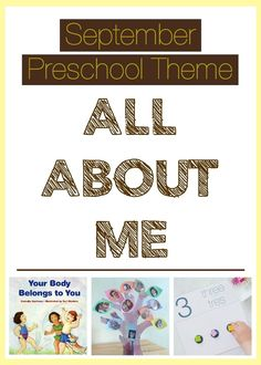 "September Preschool Theme with free printable ""All About Me"" booklet"