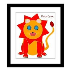 Cute Lion Art Print - Personalized FREE by South Shore Art on Opensky
