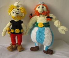 ASTERIX AND OBELIX 11 inches Amigurumi Dolls Full Set: