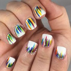 The Polish Plebe: ROYGBIV Waterfall Nail Art