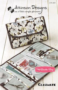 Classmate School Supplies Bag Sewing Pattern Atkinson Designs