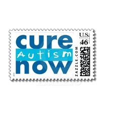 Cure Autism Now Postage Stamp from Zazzle.com. A sheet of 20 is $20.95 but we think its a great way to show support!
