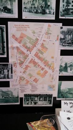 Sanborn map of Little Tokyo, with  historic photographs from the Little Tokyo Historical Society