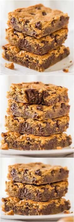 Peanut Butter Chocolate Chip Bars - Super soft bars that just melt in your mouth #comfortfood #peanutbutter