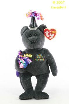 2006 New Year's Bear Beenie Babies, Ty Babies, Beanie Baby Bears, Ty Beanie Boos, Beanie Baby Prices, Stuffed Animals, Dinosaur Stuffed Animal, Ty Bears, Teddy Bear Cartoon