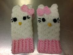 Just found a pattern and made it look like hello kitty. link to pattern I used but changed now attached.