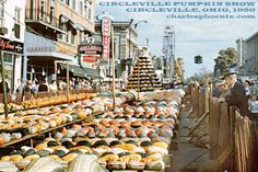 Circleville Pumpkin Party, Circleville, Ohio, 1959 - Slide of the Week - Charles Phoenix  #vintage #kodachrome