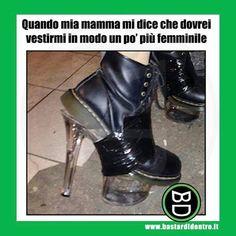 """Dedicata a tutte le nostre amiche... """"maschiaccio""""... Tagga i tuoi amici e #condividi #bastardidentro #scarpe #stivali www.bastardidentro.it"""