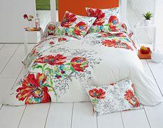 Linge de lit fleurs d'été