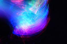 Glasfaser-Gadget mit der digitalen Kamera fotografiert Universe, Neon Signs, Stars, Abstract, Summary, Cosmos, Sterne, Space, Star