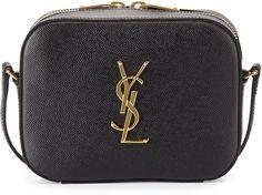 Saint Laurent Monogram Camera Crossbody Bag, Black