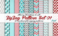 Simsational Designs: Christmas Gift - ZigZag Pattern Set 01