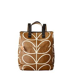 Giant Linear Stem Print Backpack Camel Orla Kiely 279a6259162ec