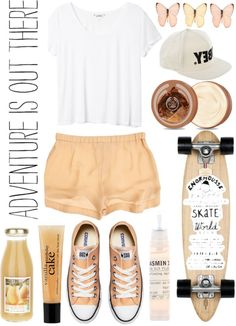 """Sk8r gurl"" by sophi-sticated ❤ liked on Polyvore"