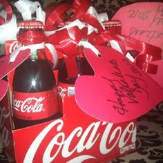 Sodalighted your my valentines w coke bottles