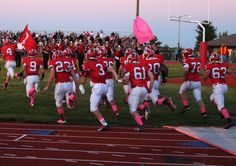 The Red Raiders take the field to play Madison Plains and fight breast cancer, 9/27/13