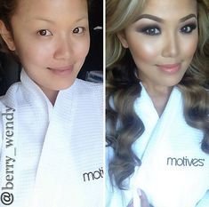@Berry_wendy amazing before / after contouring and make up photo - power brows, smokey eye, contour cheeks on Asian skin ❤️