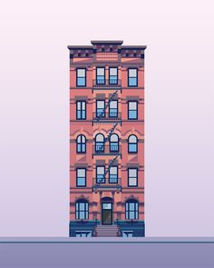 Illustration Prints—East Village Buildings - Nathan Manire — Portfolio
