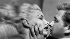 Barbara Peyton and Lloyd Bridges in the film noir.'Trapped' 1944