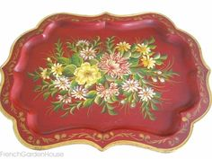 """It's no secret. I adore Toleware, and so do many of you, by the number of emails I get asking when """"new"""" antique and vintage trays will be available on FrenchGardenHouse. One of your favorite posts..."""