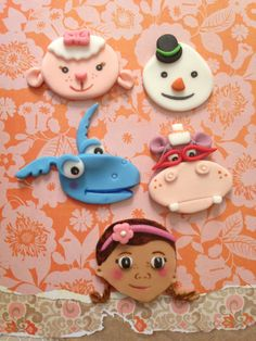Doc mcstuffins Inspired Fondant Cupcake by creativedibles on Etsy, $45.00
