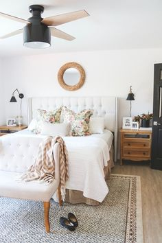 Neutral Cozy Master Bedroom Update - Home decor - Bedding Master Bedroom Guest Bedroom Decor, Bedding Master Bedroom, Master Bedroom Design, Cozy Bedroom, Bedroom Ideas, Guest Rooms, Beige Living Rooms, Neutral Bedrooms, Rwby