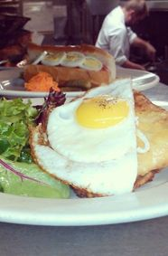 Croque Madame at Café Campagne in Seattle.  http://travelcuriousoften.com/january15-food-quest.php