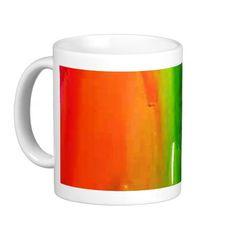 Raibow Colors Paint Drip Print Coffee Cup