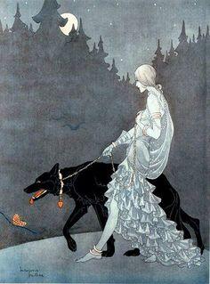 "musicalinfj: "" jeannepompadour: ""Marjorie Miller illustration, 1920s "" Queen of the Night (I believe is the title) """