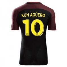 Manchester City 16-17 #Kun Aguero 10  Udebanesæt Kort ærmer,208,58KR,shirtshopservice@gmail.com
