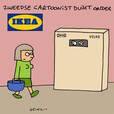 zweedse cartoonist duikt onder