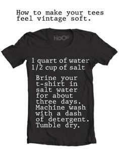 How to: Make a New T-Shirt Feel Vintage Soft