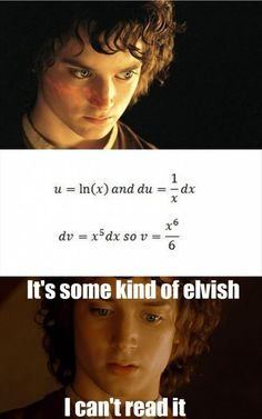 "That awkward moment when you understand this ""elvish""<<Winter break is supposed to let me escape calculus, but NOOOOO..."