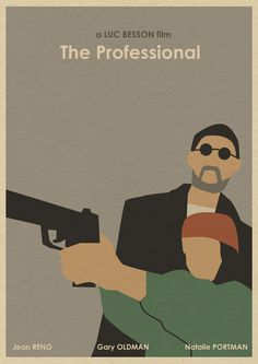 <3 Leon The Professional (1994) ~ Alternative Movie Poster by Joseph Chiang