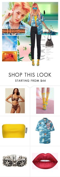 """Shimmie shimmie Ko Ko Bop"" by gizibe ❤ liked on Polyvore featuring Moschino, Gucci, Chrome Hearts and Dreamgirl"