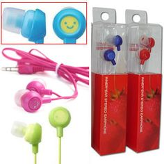 DIGITAL STEREO EARBUDS. Ideal for portable audio equipment. Assorted colors. Each display boxed.