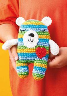 FREE - CROCHET - Stripy Bear